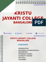 Kristu Jayanti College Bangalore|MBA|PGDM