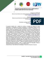 VERIFICAÇÃO DA SITUAÇÃO DE DESCARTE DE ÓLEOS LUBRIFICANTES E SUAS EMBALAGENS EM POSTOS DE GASOLINA