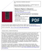 Improving schoolteachers' workplace learning