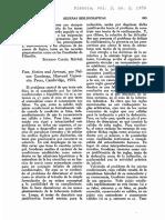 Comentarios Revista dianoia 1952