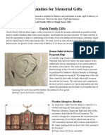 Opportunities for Memorial Gifts 2015 - Narthex and Chapel