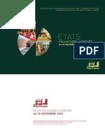 Chaine El Aurassi - Etats Financiers 2013 PDF