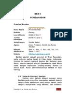 Provinsi Banten ISBD