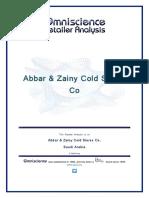 Abbar & Zainy Cold Stores Co Saudi Arabia