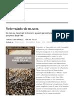 Crítica de 'Conversación Con Manuel Borja-Villel', De Marcelo Expósito_ Reformulador de Museos