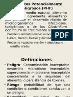 Alimentos Potencialmente Peligrosos (PHF)