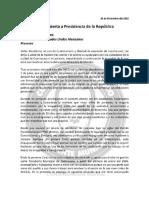 Carta a Presidencia de La República de Cuauhtémoc Blanco