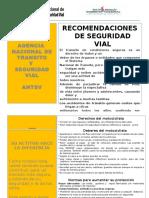 MOPC Seguridad Vial Recomendaciones