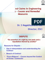 Disputes and Claims in Engineering Contracts - Causes and Remedial Measures (56 Slaytlık Sunum)