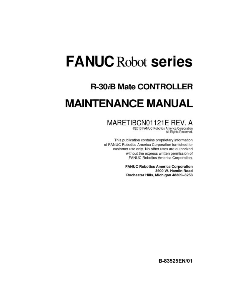 fanuc robot series r30ib and mate controller maintenance manual rh scribd com FANUC America Manuals Fanuc RJ2 Manual PDF