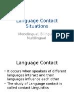 Language Contact Situations