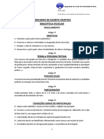 Regulamento de Concurso de Escrita Criativa