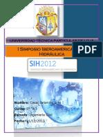 Informe Del I Simposio Iberoamericano de Hidraulica_Cesar Alberto Jaramillo Eras