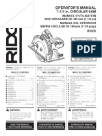 Ridgid Circular Saw Manual