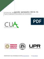 Informe 2do Sem 2014-15 CUA-RUM