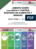 Reglamento Sobre Vigilancia y Control Sanitario de Alimentos