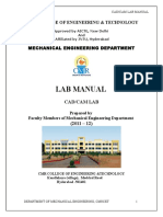 Cad Lab Manual