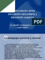 Articulación entre educación secundaria y universitaria