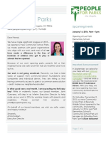 People for Parks Winter 2015 Newsletter