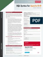 RefCardz - SQL Syntax for Apache Drill