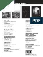 Duke University Press Program Ad for the 2016 Annual Meeting of the College Art Association