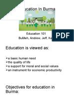 education in burma  final