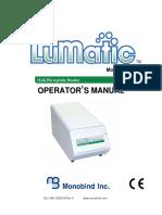 Manual de Operador Manual Lumatic 4401