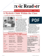 The Dyslexic Reader 2000 - Issue 20