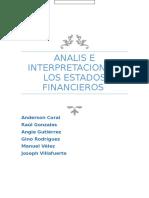 Analisis y Interpretacion de Los Estados Financieros