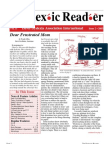 The Dyslexic Reader 2003 - Issue 31