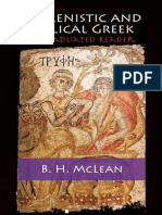 Hellenistic and Biblical Greek - A Graduated Reader