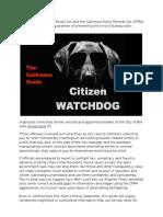 Citizen Watchdog Guide 12 21 15