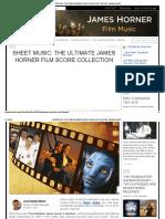 Sheet Music_ the Ultimate James Horner Film Score Collection James Horner