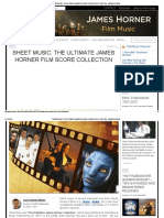Sheet Music_ the Ultimate James Horner Film Score Collection  James Horner