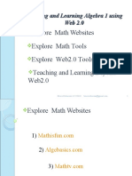 Teaching and Learning Algebra 1 Using Web 2