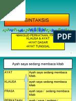 BAHASA MALAYSIA KERTAS 1-SINTAKSIS