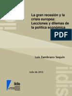 ZAMBRANO,L. La Gran Recesion y La Crisis Europea.