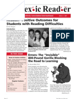 The Dyslexic Reader 2007 - Issue 44
