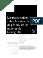 Perspectivas Sobre La Violencia de Genero de Las Mujeres de Cienguilla