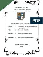 Economia Argentina Aspecto Macroeconomico