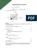 Bresenhams line algorithm