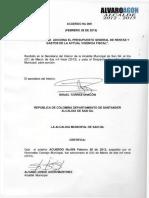 Acuerdo 009 de 2013