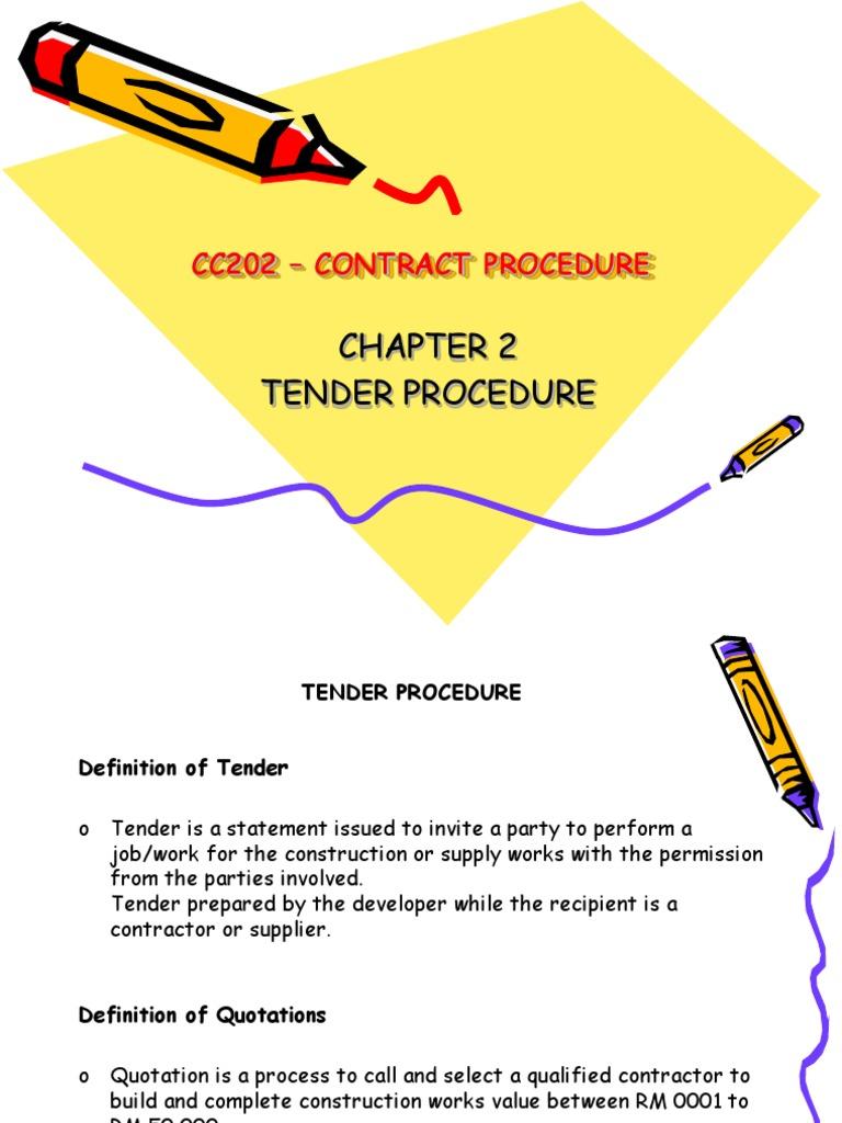 Tender procedure general contractor business stopboris Choice Image