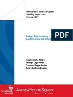 Budget Transparency in Local Governments an Empirical Analysis