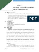 Modul 2 - Alat Ukur Listrik Dan Rangkaian SERI Dan PARALEL Pada RESISTOR