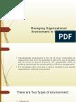 Managing Organizational Environment in Industry