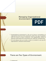 Managing Organizational Environment in Industry