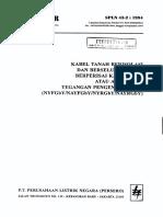 Spln 43-2-1994 Kabel Tanah Berisolasi & Berselubung Pvc, Ber