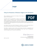 Policy for Protection of Women Rights at Workplace