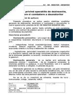 Procedura Privind Operatiile de Dezinsectie, Deratizare Si Comb. a Daunatorilor 3D
